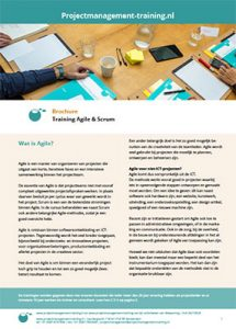 Brochure Agile en Scrum training
