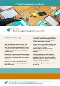 Download onze brochure Projectmanagement en projectmatig werken